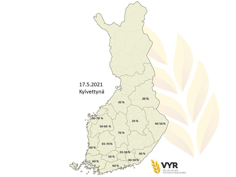 Kartta kylvettynä 17 5 2021