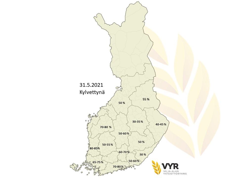 Kartta kylvettynä 31 5 2021